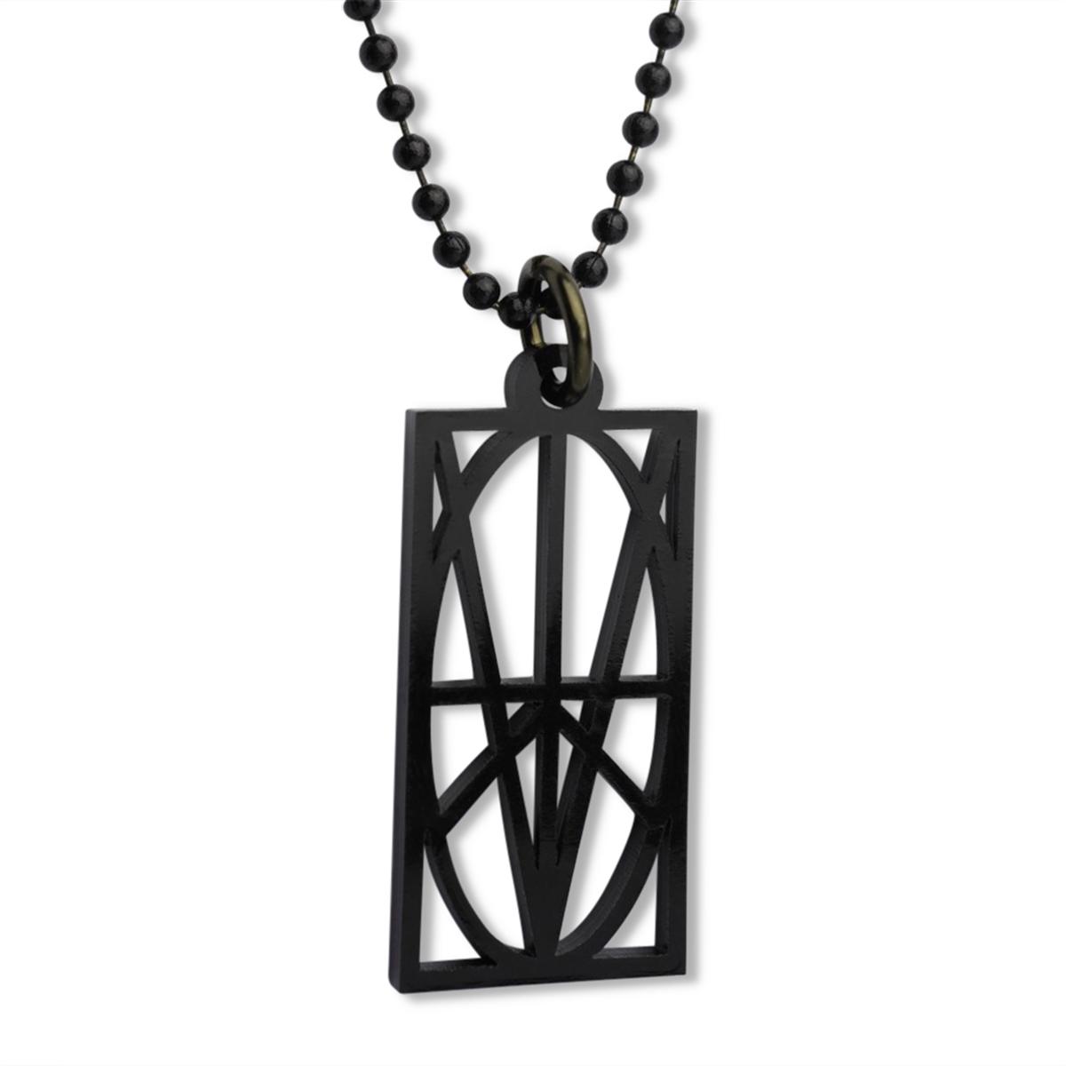 Picture of Men's Black Acrylic Pendant