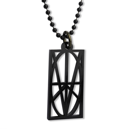 Picture of Men's Black Acrylic Pendant