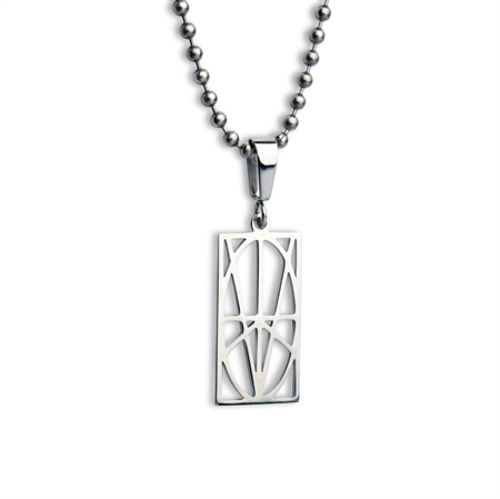 Picture of Men's Small Stainless Steel Pendant