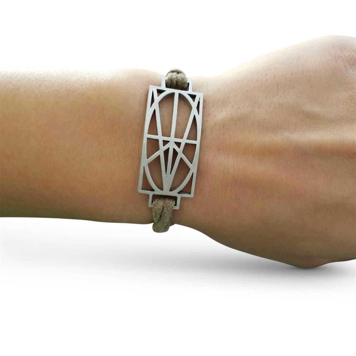 Picture of Women's Tan Wrap & Tuck Bracelet - Large Zymbol